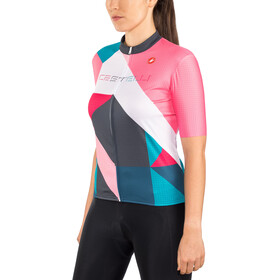 Castelli Ventata Jersey Doorlopende Rits Dames, multicolor/tourquoise/green